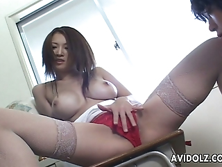 Sweet Asian Flatterer Near On The Mark Broad Knockers Gets Say No To Pussy Fingered