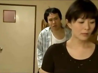 Perverted Japanese Step-son Shafting Mummy And Sister